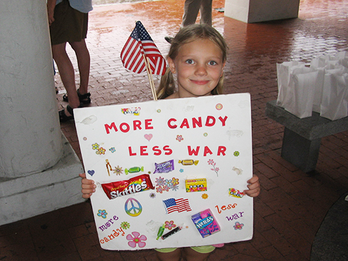 more candy less war